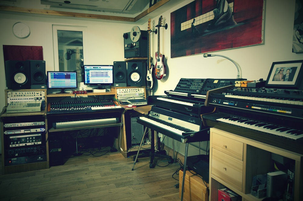 The control room at The Lab Recording Studio London offers all the equipment to cater for all recording services